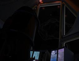 space shuttle cockpit VR / AR ready animated 3d model