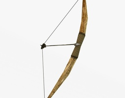 3d model realtime wooden bow