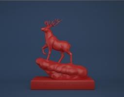 Christmas Deer print ready 3D printable model