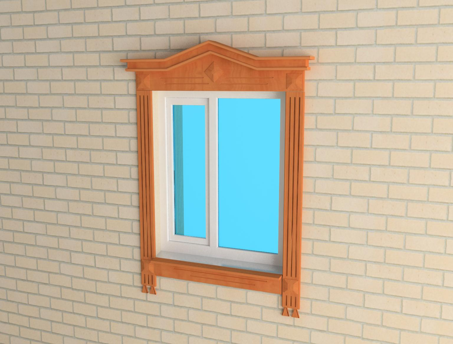 Jamb on the window 3d model 3ds for Window models for house photos