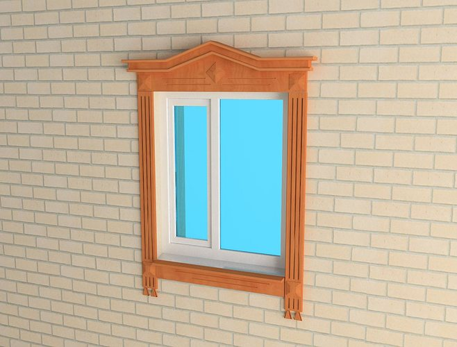 Jamb on the window 3d cgtrader for Window 3d model