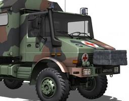 Mercedes Benz Unimog U1300L - Ambulance 3D model