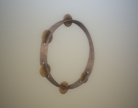 3D model Low Poly Tambourine PBR