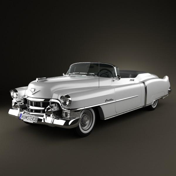 3D Cadillac Eldorado Convertible 1953 | CGTrader