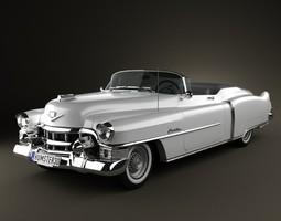 3D Cadillac Eldorado Convertible 1953