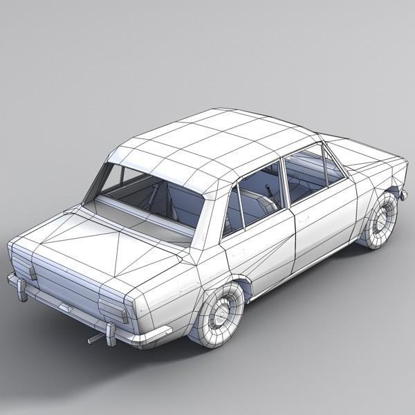 Low Poly Vaz Car Model Cgtrader