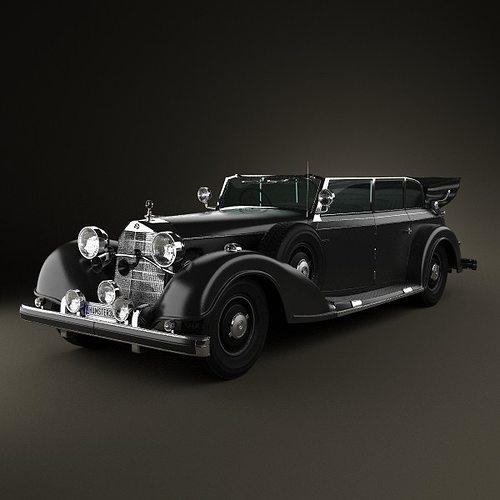 mercedes-benz 770k 1936 3d model max obj 3ds fbx c4d lwo lw lws 1