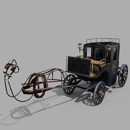 Carriage 02 3d Cgtrader