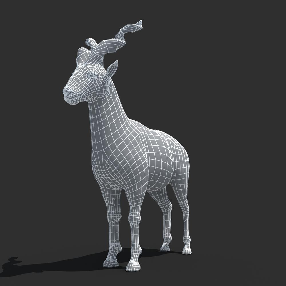 3ds max 2010 v ray 2 40 03 file formats fbx obj dog beds -  Mountains Goat 3d Model Max Obj Fbx 8