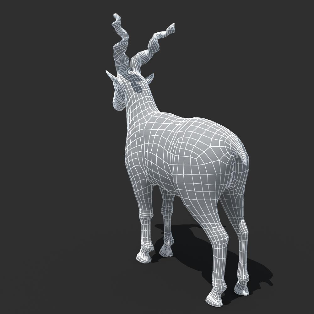 3ds max 2010 v ray 2 40 03 file formats fbx obj dog beds -  Mountains Goat 3d Model Max Obj Fbx 9