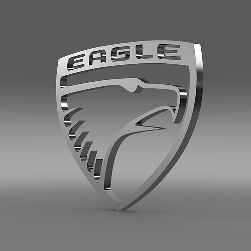 3d model eagle logo cgtrader. Black Bedroom Furniture Sets. Home Design Ideas