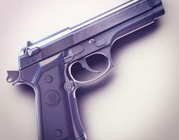 Beretta M9 9mm Pistol Hi-Res 3D Model