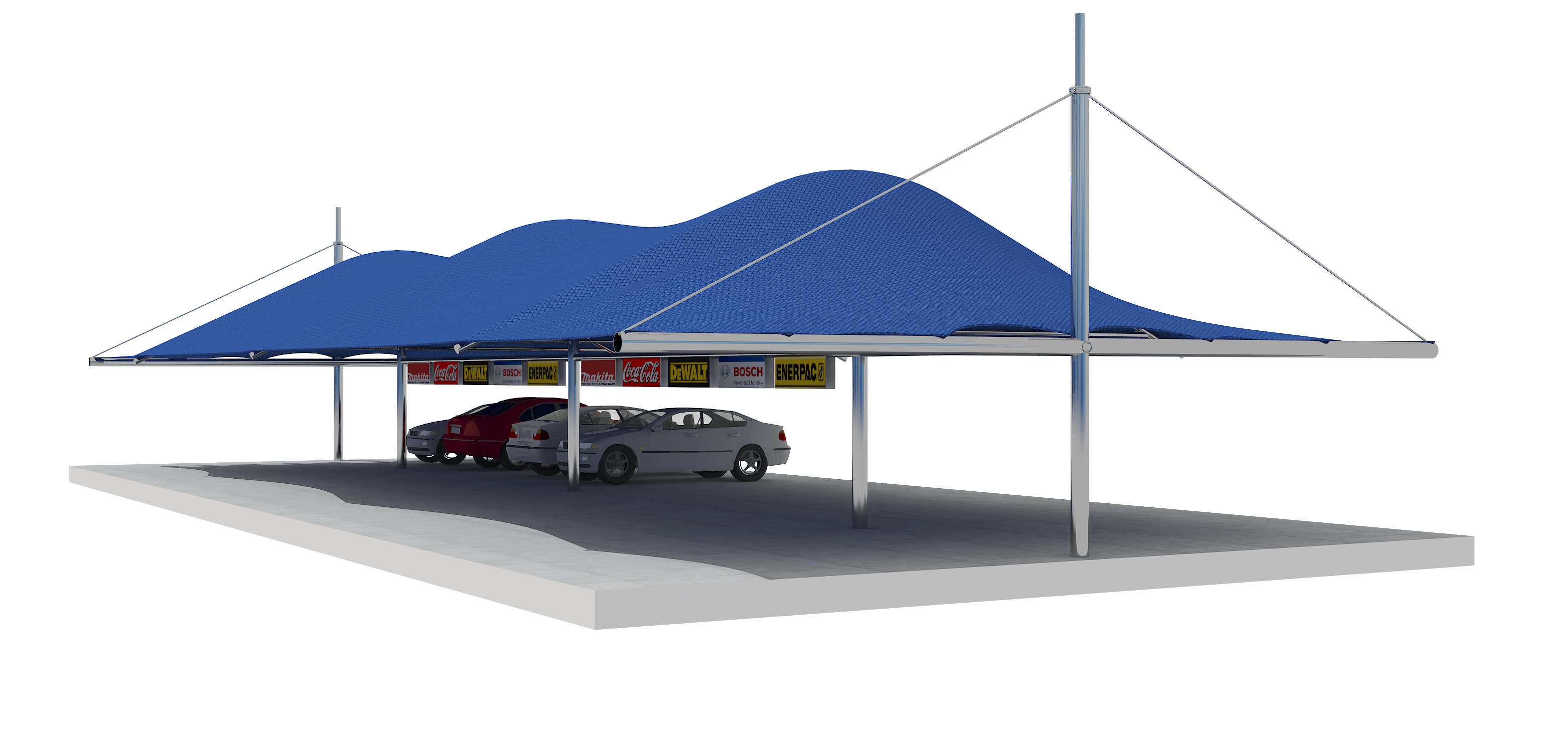 archeo parking tensostructures india roof arched design sheds sprech models car shed sam products
