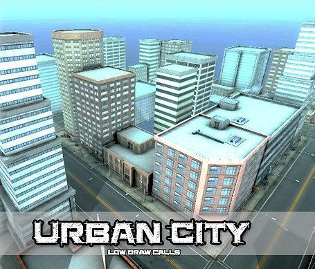 urban city 3d model fbx 1