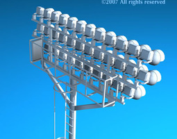 3D model Arena lights collection