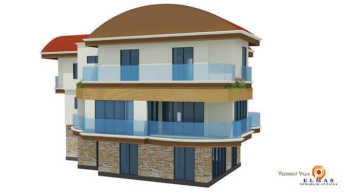 Home exterior 3d model max Home 3d model