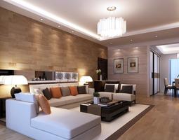 3D model Modern Living Room architectural