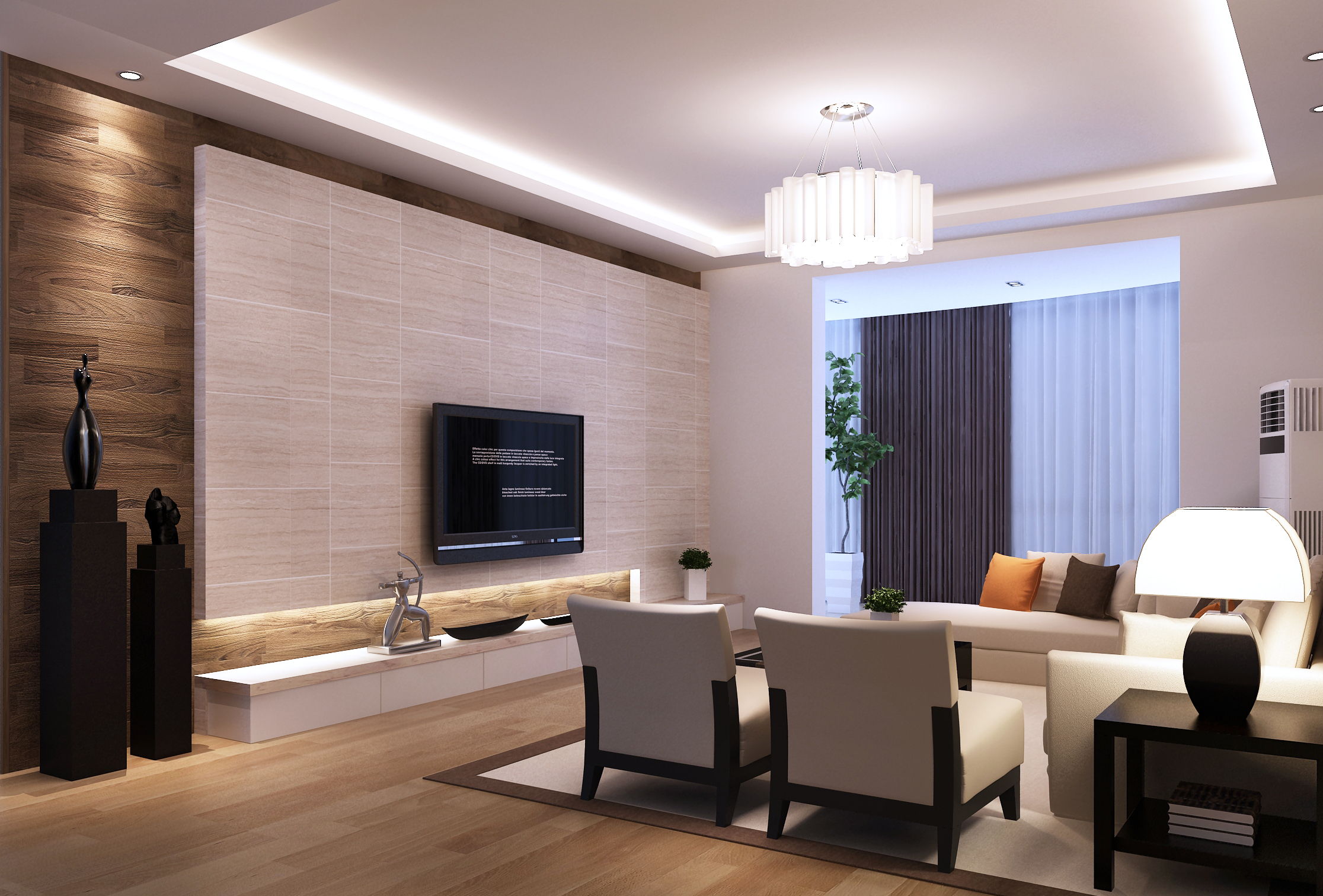 Living Room 3d Model 3d model modern living room architectural | cgtrader