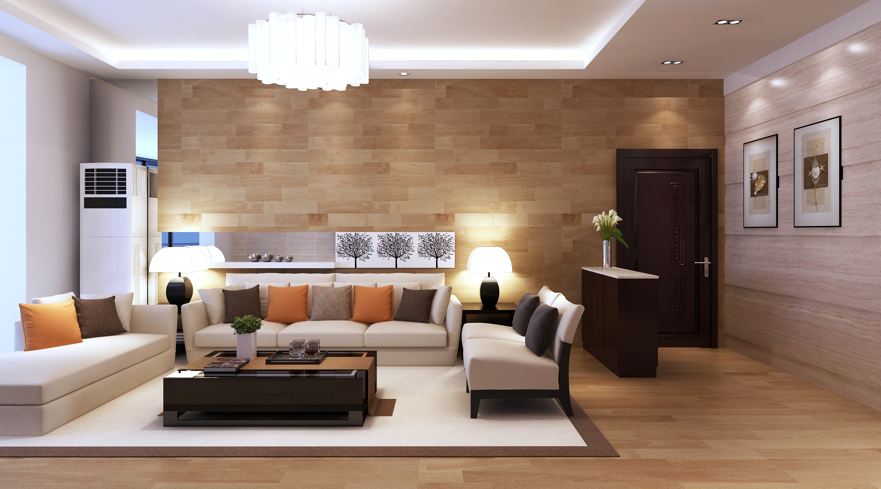 Model Living Room Prepossessing 3D Model Modern Living Room Architectural  Cgtrader Decorating Design