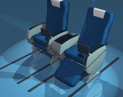 3D model Plane train seats business class