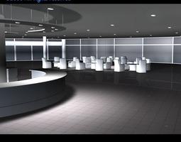 car dealership interior 3d