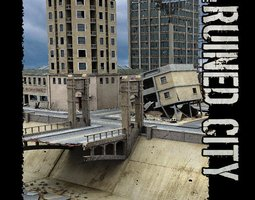 3D model The Ruined City for Poser