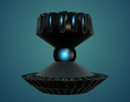 Magnetic Fountain 3D Model