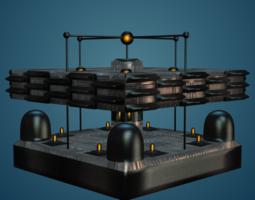 sci-fi structure i 3d model obj 3ds mtl