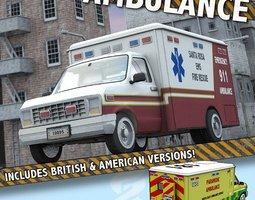 3D model Ambulance for Poser