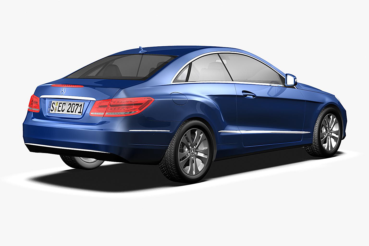 2014 mercedes benz e class coupe 3d model max obj 3ds fbx c4d lwo lw lws - Mercedes e class coupe 2014 ...