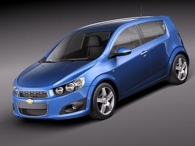 Chevrolet Sonic Aveo 2012 Compact Hatchbac 3d Model Max