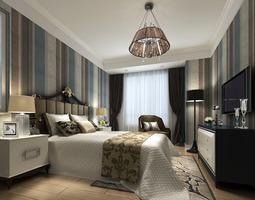 Modern Bedroom wall-light 3D model