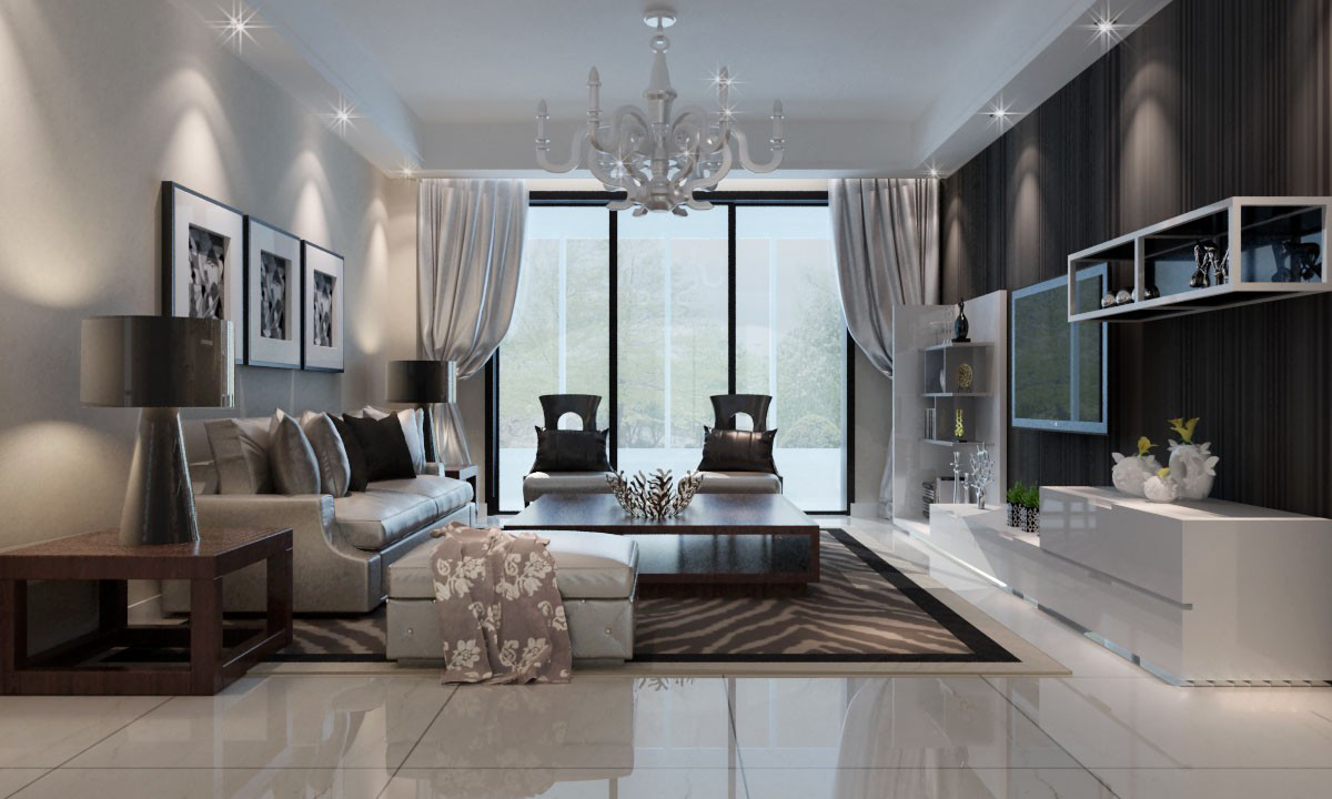Marvelous Modern Living Room 3d Model Max 1