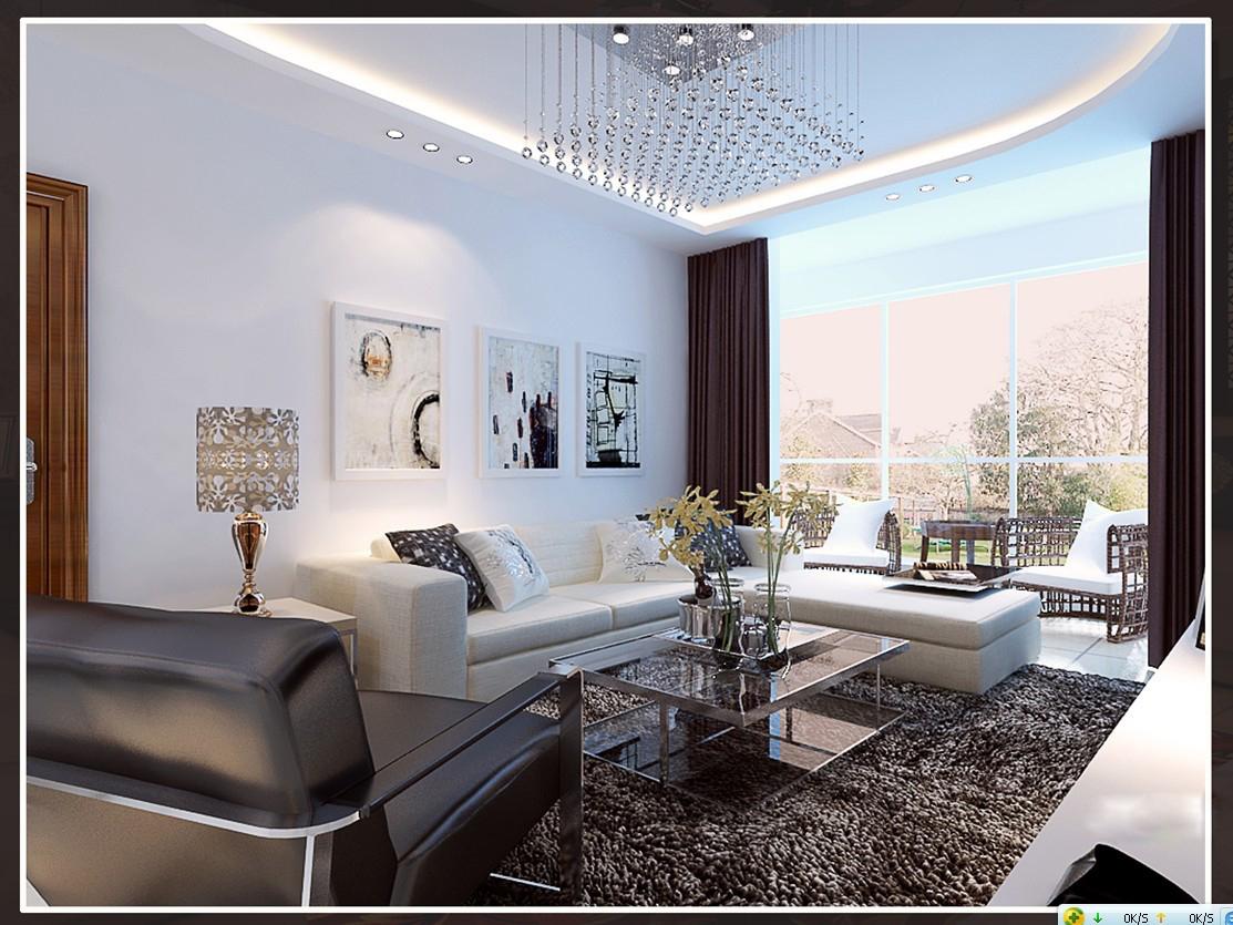 Living Room Models 3d modern living room with fur carpet | cgtrader