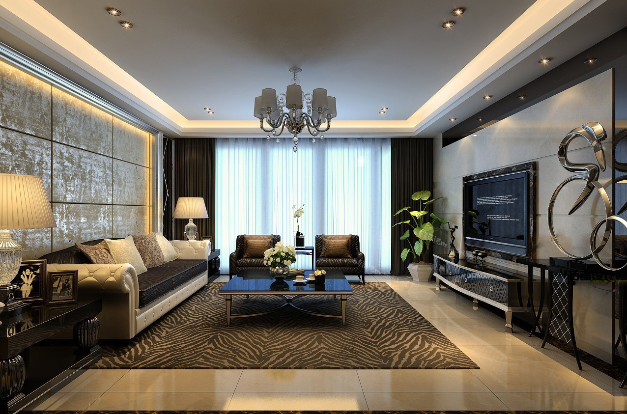 High Quality Modern Living Room Fully Furnished 3d Model Max 1 Design Inspirations