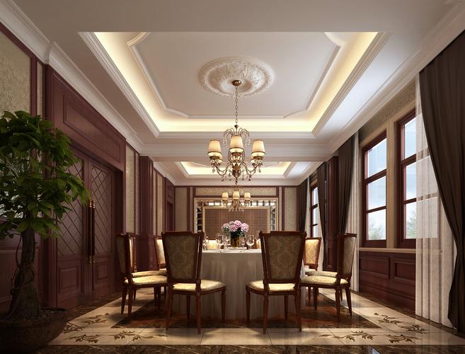 Modern dining room furnished 3d model cgtrader for Dining room 3d model