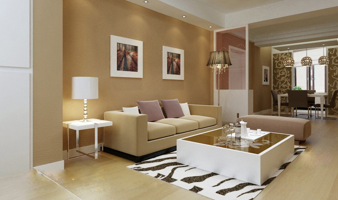 ... Modern Living Room Fully Furnished 3d Model Max 3 Part 2