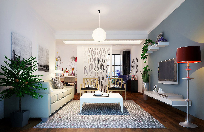 Modern Living Room Fully Furnished 3d Model Max