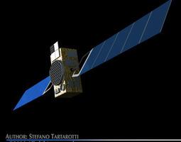 Galileo satellite 3D model