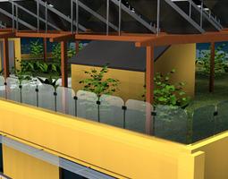 Ecological building cutaway 3D