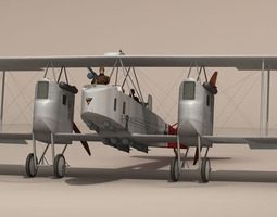 Gotha G IV Bomber 3D model