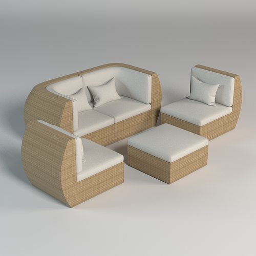 3d model outdoor furniture 001 cgtrader for Outdoor furniture 3d max