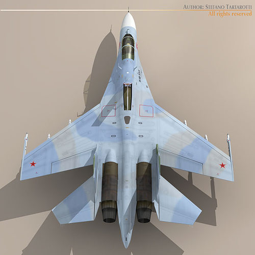3d Su 27 Flanker Camo2 Cgtrader