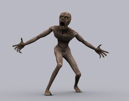 animated realtime ghoul game ready animated model