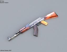 AK-47 low-poly 3D asset