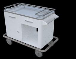 3d model medical cart old