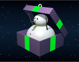 3d printable model snowman