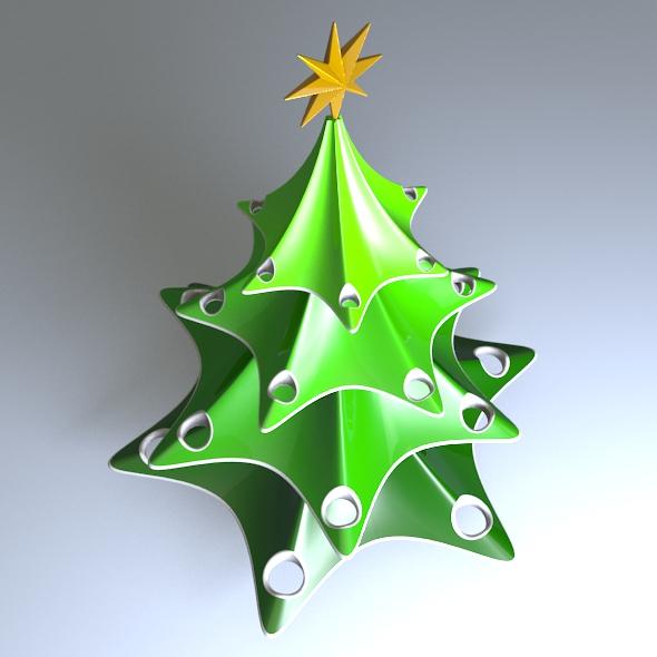 Stylish Christmas Tree 3D Model 3D Printable OBJ FBX STL