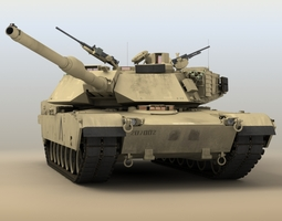 rigged 3d m1a1 abrams