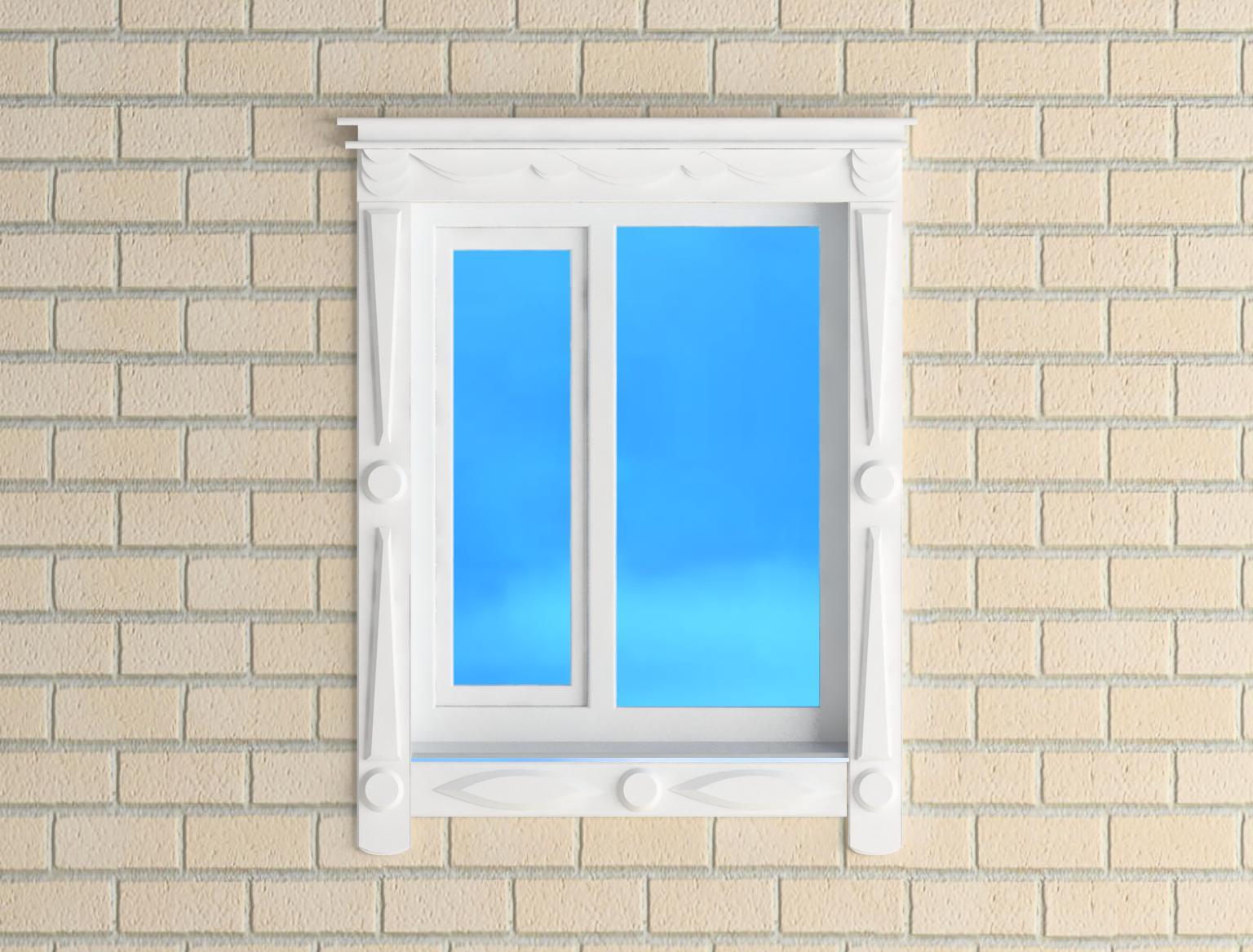 Jamb the window 3d model 3ds for Window 3d model